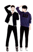 Jungkook and Taehyung Render by allaixa