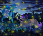 Fireflies chase by MittensTheNoble