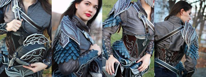 Female Elven Leather Armor set