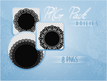 PNG Pack #01 - 8 Doilies by KuroTennyo