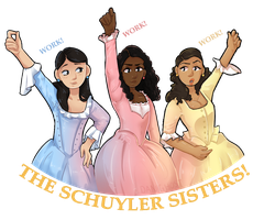 The Schuyler Sisters! by DominickLuhr