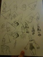 Peridot Sketches by thedestoryerofworlds