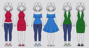 Kisekae: Three New Necklines (with codes) by RainbowFan256