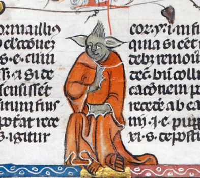 Medieval depiction of yoda by evilwraith666