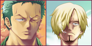 Zorro and Sanji QR2 by Choparini