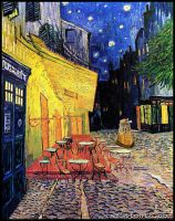 Dr. Who at Cafe Terrace (Dr.Who/Van Gogh) by Rabittooth