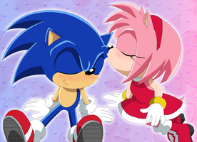 Amy Kiss Sonic by Kittykun123