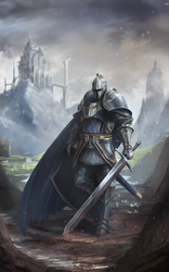 Fantasy Knight Commission by BABAGANOOSH99