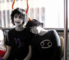 Homestuck: Gamzee and Karkat by RhymeLawliet