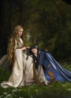 Arwen and Celebrian by steamey