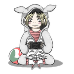 Kenma in Totoro onesie by Brookfan