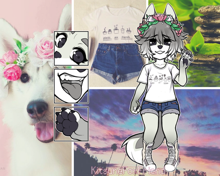 MOODBOARD FEMALE CANINE OTA [CLOSED] by KitsuneFoxFriend