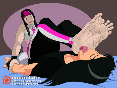 [Commission] Juri Han being an untamed fighter by DonVirus