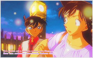 Shinichi and Ran Signature by KuroTennyo