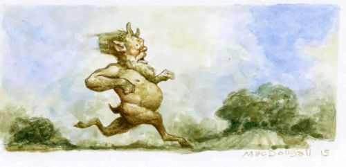 Running-faun by bridge-troll