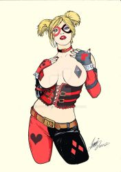 Harley Quinn - pencil by HM1art - color by me by Svetoslawa