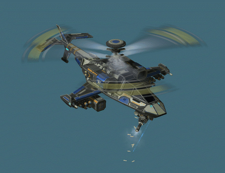 Armed Copter attack animation by DelphiniumKey