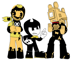 Bendy, Sammy, and Norman by Gamerboy123456
