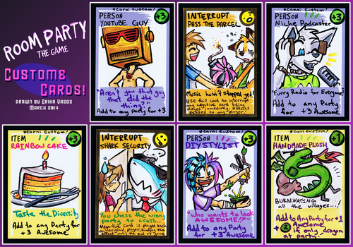 RoomParty: First Custom Cards! by carnival
