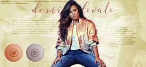 free header ft. Demi Lovato by designsbyroth
