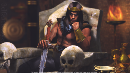 King Conan for MarkH3D by 3D-Fantasy-Art