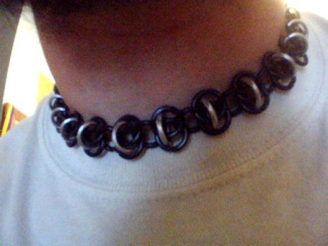 Chainmaille Choker by mothsafterglow