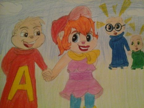 Brittany has Alvin's cap ! by Xiomary