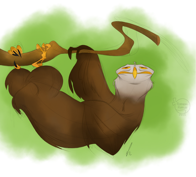 Sketch Dailies: EagleSloth by feathers-Ruffled