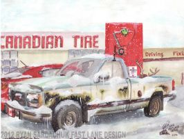 Meanwhile In Canada... (1992 GMC Sierra) by FastLaneIllustration