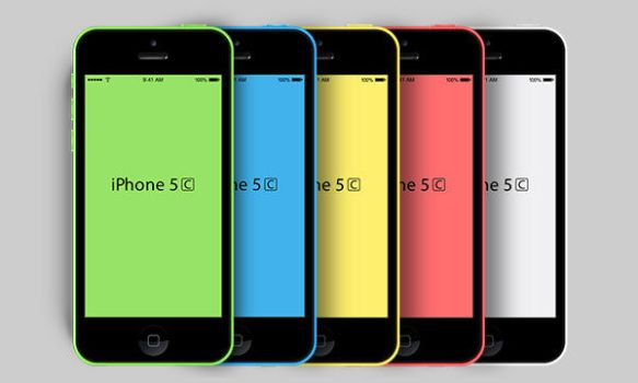 New iPhone 5C Mockup (PSD) by softarea