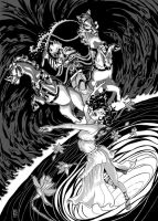 Hades and Persephone mono by Marcelo-Baez