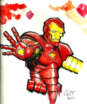 Iron Man Watercolor Sketch by GilTriana