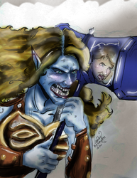 Lauriel the Troll by Whyled-Card