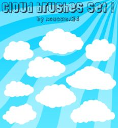 Cloud Brushes Set 1 by xCassiex24