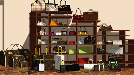 [MMD] Bags, Purses, and Suitcases Pack DL by OniMau619