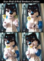 Krys-Wolf Fursuit and Wolf Brothers Cookies by krystlekmy