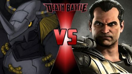 BlackWarGreymon vs. Black Adam by OmnicidalClown1992