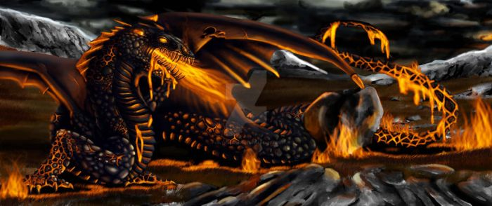 Dragon from Beowulf by Celtic-balverine