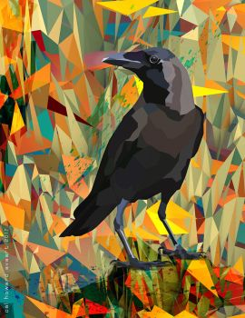 October Poly Crow by AVAdesign
