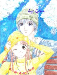 Girl and boy in the snow... by genaminna