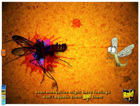 R A I D anti mosquitos by logotypes