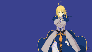 Saber (Fate/ Stay Night) Minimalist by xVordred