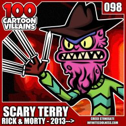 100 Cartoon Villains - 098 - Scary Terry! by CreedStonegate