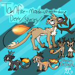 TanFire Deer / Species Design / Ref Sheet by AmazingArtsAA