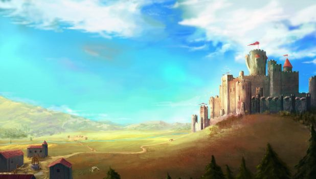 Overwhelming castle by Vaalan