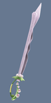 Flower Hairpin Sword by aquabluu