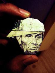 Abe Lincoln Origami by Laugh-Till-You-Bleed