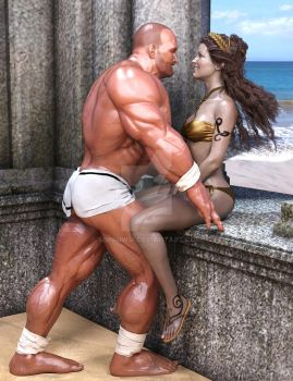 Hercules and Deianira: Flirt by SimonWM