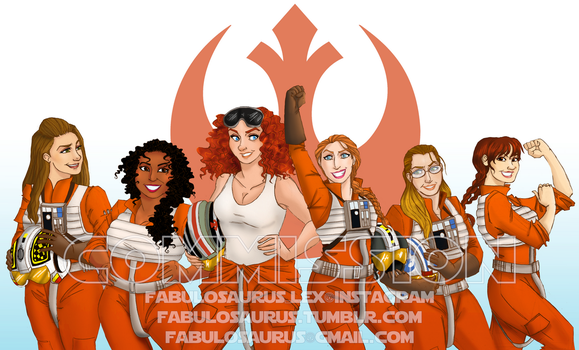 Commission - Rebel Squadron by Alexiel-VIII