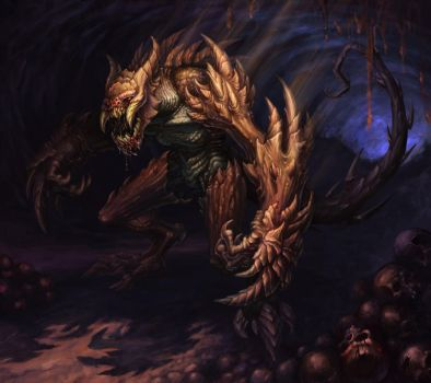 Monster in a cave by KhezuG
